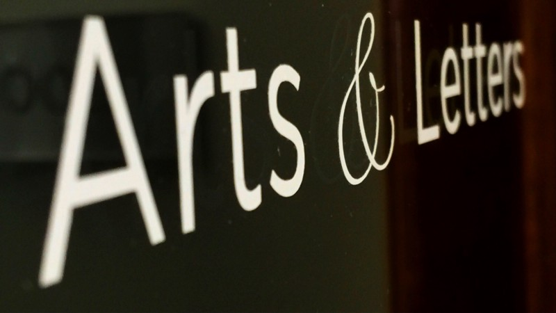 Arts & Letters sign