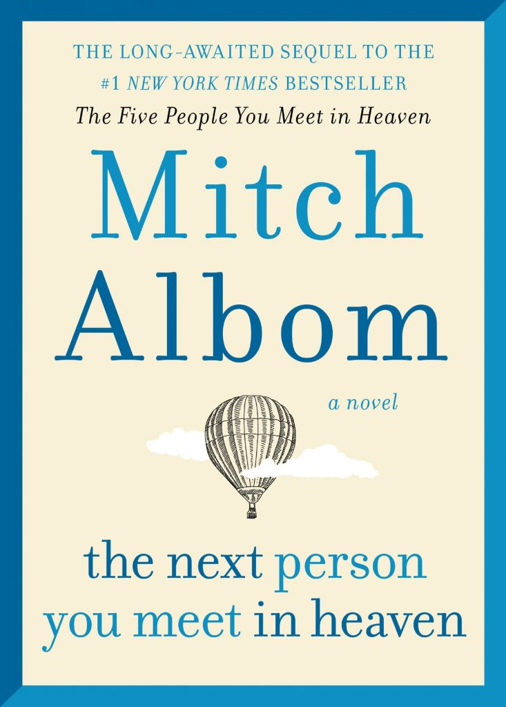 cover of book with blue border and cream colored background and hot air ballon