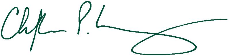 Signature of Dean Christoper P. Long