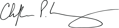 Black signature of Dean Christopher P. Long