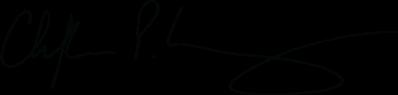 Black signature of Dean Christopher P. Long