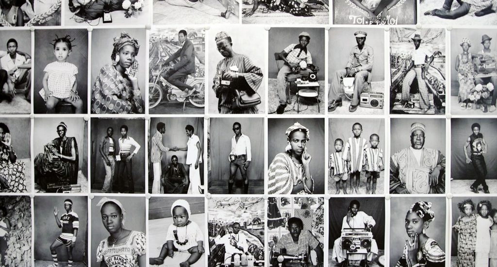 Black and white photographs of people in Mali