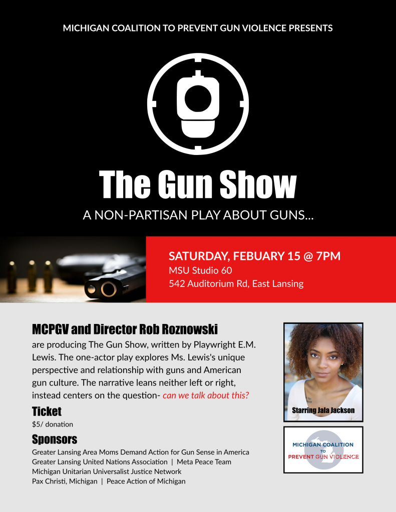 """Graphic of an event called """"The Gun Show"""""""