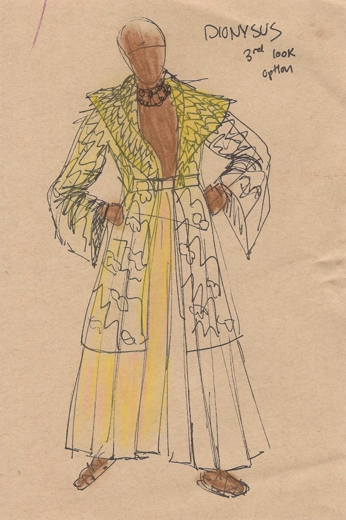Sketch of fashion garment (long coat with belt)
