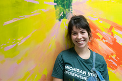 Recent Alumna Completes Mural for MSU Program