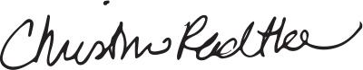 signature of senior director of development, Christine Radtke