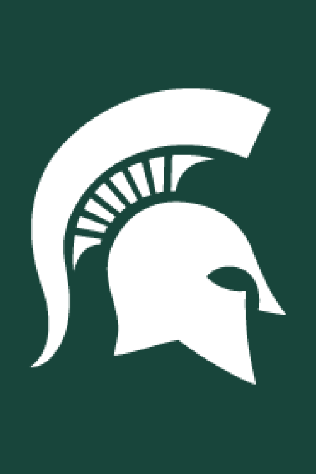 a spartan head graphic on a green background