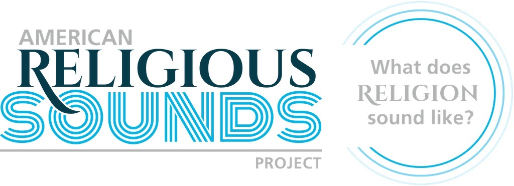 """graphic that says """"american religous sounds project, what does religion sound like?"""""""