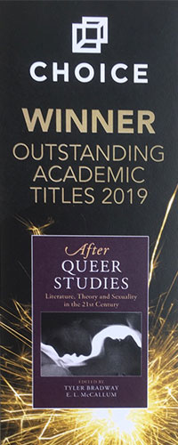 graphic showing 'After Queer Studies' as the winner of outstanding academic title in 2019