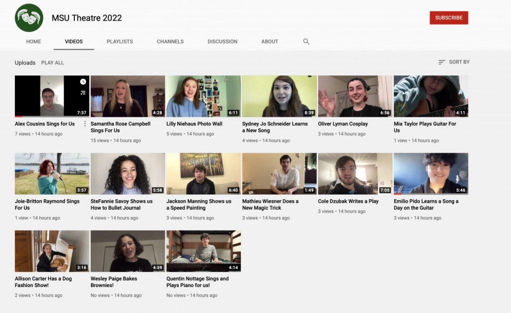MSU Theatre youtube page