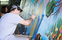 AAHD Class Creates Mural for Downtown East Lansing