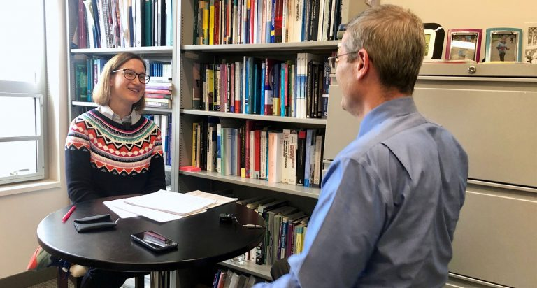 LAE Podcast Hosts Associate Professor of Linguistics Paula Winke