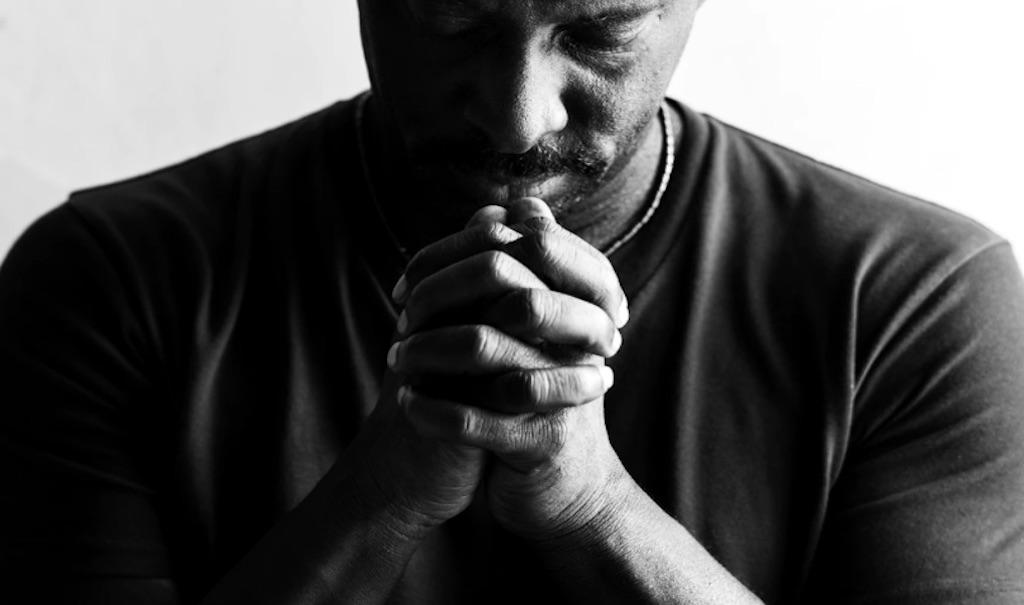 a person praying