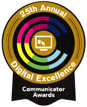 icon of 25th annual digital excellence's communicator awards
