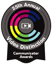 icon for 25th annual video distinction's communicator awards
