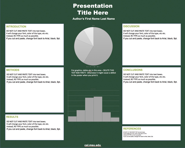 Graphic showing a mockup of the fourth academic paper template in official MSU branding