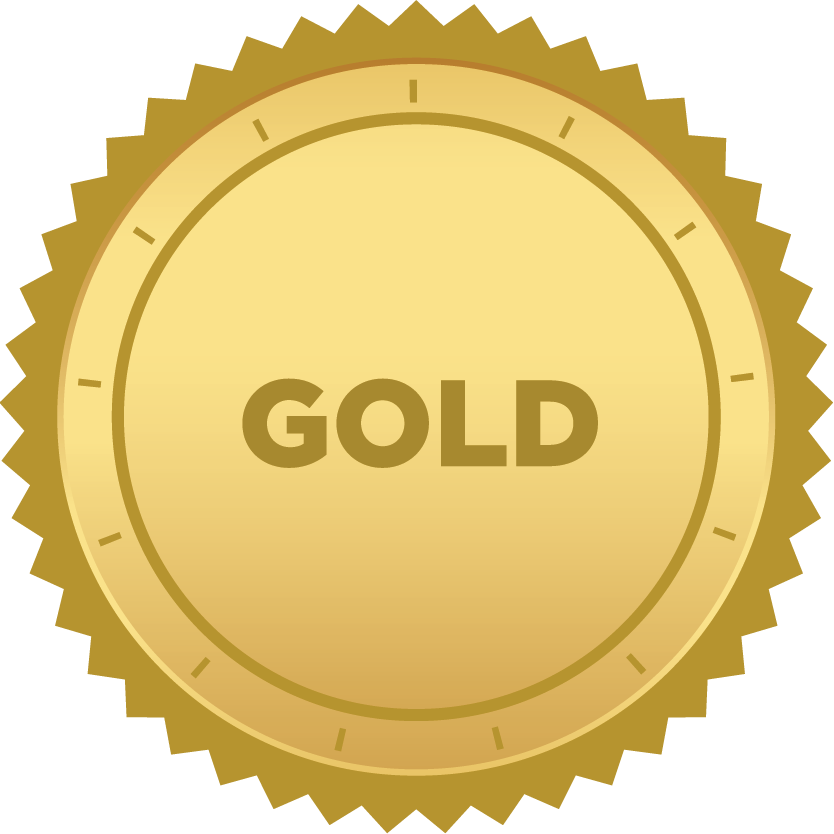 icon of gold badge