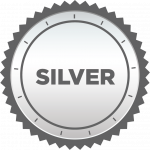 icon of a silver badge