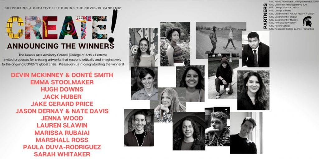 a poster for the CREATE winners