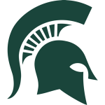 Green MSU Sparty Helmet