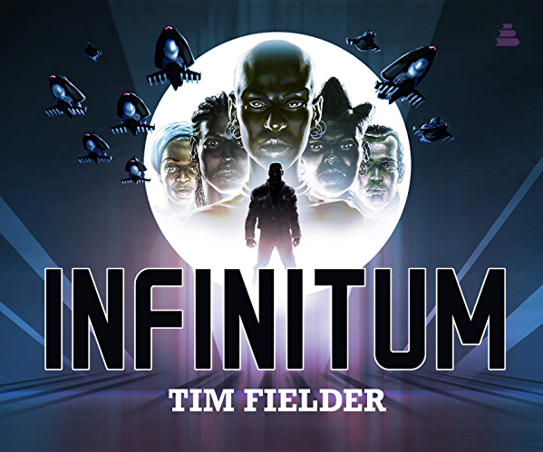 "Purple and blue graphic for Tim Fielder's ""Infinitum"""