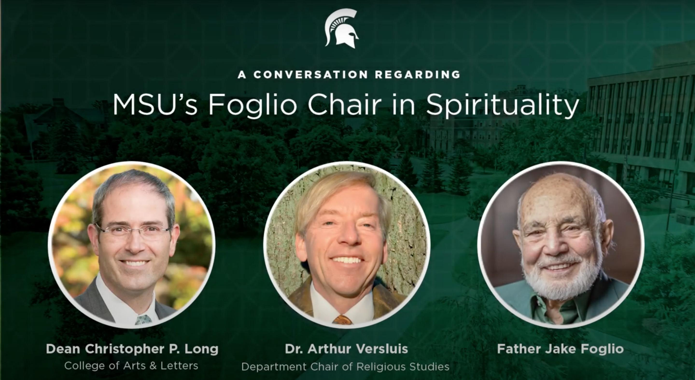 Video: A Conversation About MSU's Foglio Chair in Spirituality