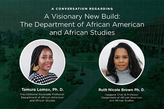 A Visionary New Build: The Department of African American and African Studies