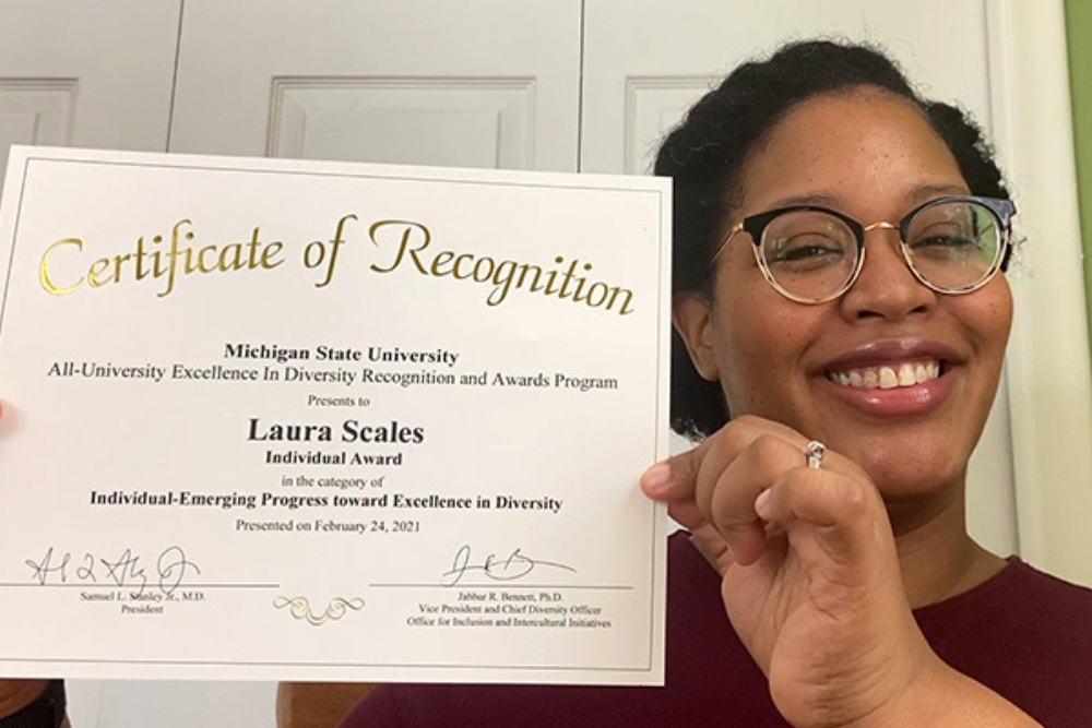 Department of Theatre Faculty Member Receives Excellence in Diversity Award